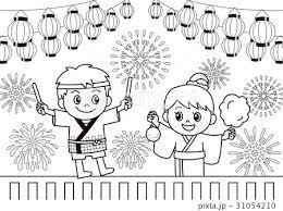 祭りぬりえのイラスト素材 31054210 Pixta