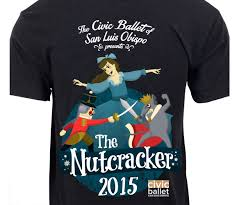 Nutcracker Ballet T Shirt Designs Bold Playful Non Profit T Shirt Design For Civic Ballet Of