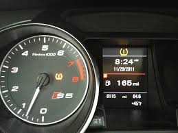 My 2011 Audi S5 Low Tire Pressure Warning Light Is On Agai