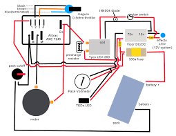 wiring diagram updated the electric chronicles power in flux electric quad bike wiring diagram note this reflects how the bike is actually wired, more for my reference than anything else although the circuits are correct, some of the connections are