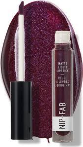 nip fab matte liquid lipstick black