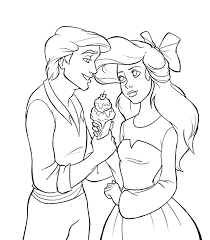 Small Picture Ariel and Eric Coloring Pages the little mermaid coloring pages