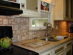 Stone Backsplashes For Kitchens Mosaic Stone Pattern Backsplash Right View New Jersey Custom Tile