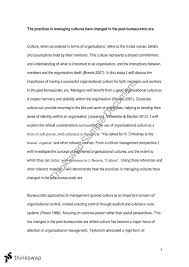culture essay managing people and organisations thinkswap culture essay