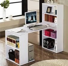 dual desk bookshelf small. DIY Computer Desk Made From Two Bookshelves Dual Bookshelf Small M
