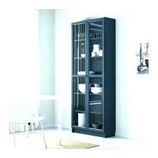 glass door bookcase cabinet billy with corner doors ikea c