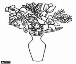 Kleurplaten Vaas Met Bloemen