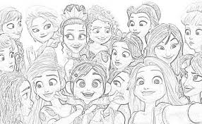 Make this disney movie coloring. Princess Vanellope Coloring Pages Coloring And Drawing