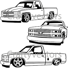 1500x1500 chevy truck drawing