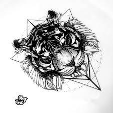 сделать татуировку тигр 15x15 см в городе уфа по эскизу мастера Oleg