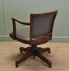 antique office chair. art deco antique solid oak swivel desk chair office t