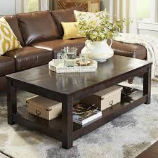 parsons large brown coffee table pier imports round
