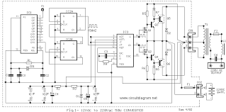 50w inverter 12vdc to 220vac schematic design