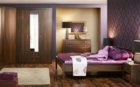 modern contemporary bedroom furniture fascinating solid. Fascinating Master Bedroom Design With Oak Wood Platform Beds Which Has Purple Satin Florals Bed Sheet And Lovely Wall Background Also Curved Brown Modern Contemporary Furniture Solid U