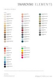 Pearl Color Chart Crystal Pearl Color Charts
