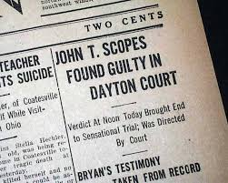 「the Scopes Monkey Trial,」の画像検索結果