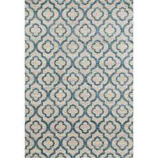 moroccan trellis pattern high quality soft blue 8 ft x 10 ft area rug