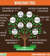 Functional Words List Know About Funct Root Word And Words Based On This Root Funct