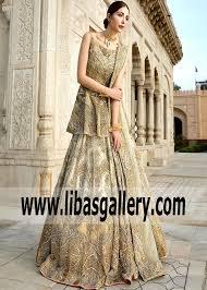 Erum Khan Dress Designer Erum Khan Embellished Lehenga Wedding Dress