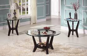 glass coffee and end tables brown cherry coffee table end tables 3pc set clear glass top