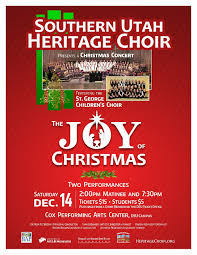 Graphic Design St George Utah The Joy Of Christmas Matinee Greater Zion Event