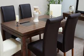 fascinating walnut dining table set 11 85876368