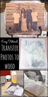 easy tutorials to transfer photos to wood