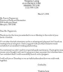 Sample Follow Up Letter After Interview Thank You For The Final