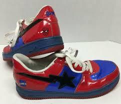 Spiderman Light Up Shoes Size 13 Rare Misprint Marvel Comics Spider Man Bape Sta Bathing Ape Shoes Mens Size 13