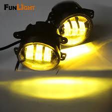 4 Inch Amber Yellow 60W 4800LM Fog Lights for Jeep Wrangler JK TJ LJ Tractor Boat