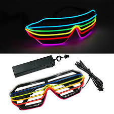 <b>LED LIGHT UP SUNGLASSES</b> SHADES FLASHING BLINK GLOW ...