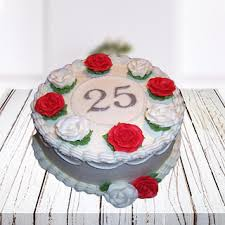 Send Silver Anniversary Cake Online In India At Indiagiftin