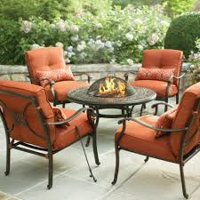... Patio, Enchanting Orange Square Modern Wood With Leather Home Depot  Clearance Patio Furniture Stained Design ...