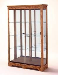 glass display cabinet small for with lock