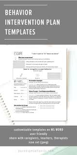 behavior intervention plan template best 25 behavior interventions ideas on pinterest positive