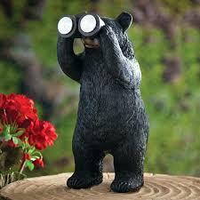 astonishing solar garden statue solar garden statues bear with binoculars statue solar garden statue boy with