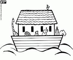 Kleurplaat Noach En De Dieren Op De Ark Kleurplaten