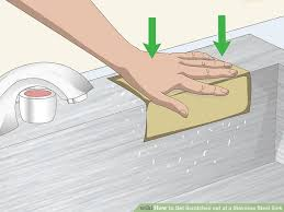 image titled get scratches out of a stainless steel sink step 12
