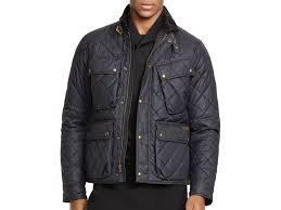 Ralph lauren Polo Quilted Bike Jacket in Black for Men   Lyst & Gallery Adamdwight.com