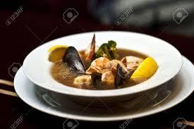 Seafood Soup From Shrimp; Clams, Lemon ...
