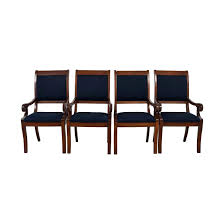 pier one blue and white dining chairs fabric set of navy room padded upholstered contemporary with