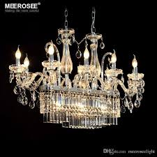 gorgeous rectangle crystal chandelier light fixture 13 lights glass chandelier lighting re hanging dining room drop lamp flush mount chandelier wine
