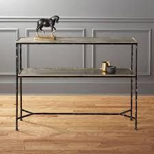 Black modern sofa table Mirror Gricoddinfo Molten Black Metal Console Table