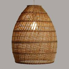 basket lamp shade weave bamboo pendant world market 1