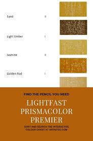Lightfast Prismacolor Premier Interactive Colour Chart