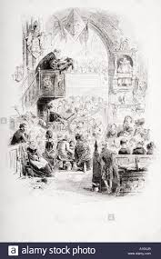 our pew at church illustration from the charles dickens novel our pew at church illustration from the charles dickens novel david copperfield by h k browne known as phiz