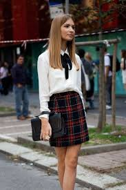 25 Ways To Style Plaid Or Checkered Skirts 2017 FashionTasty