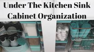 Under Kitchen Sink Organizing How To Organize Under The Kitchen Sink Cabinet Youtube