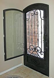 security front door screens traditional scroll iron entry door by first impression security front security screen