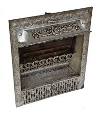 completely intact late century original american victorian era interior residential fireplace gas grate or insert with patented design